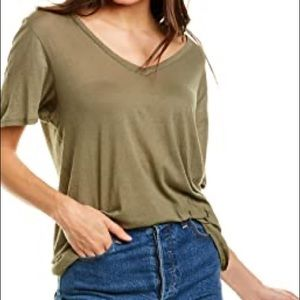 Project Social T Amelia Raw V-Neck Seagrass Small